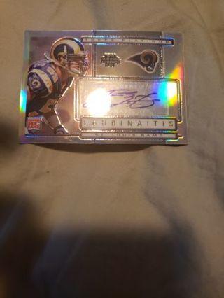 James Laurinaitis St. Louis Rams autograph rookie card #/850