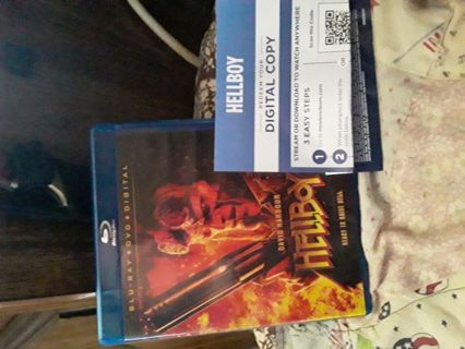 This is for digital copy of hellboy 2019 movie