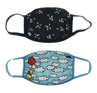 Genuine Disney Winnie The Pooh and Mickey Mouse Fabric Face Masks 2-Pack for Women - New Sealed