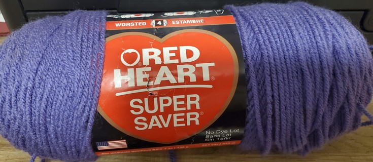 "NEW - Red Heart Super Saver Yarn - ""Lavender"""