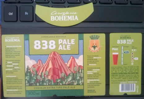 838 PALE ALE 300ml beer label