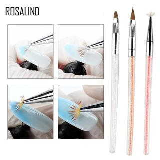 ROSALIND Nail Art Brush 7 Colors Acrylic Drawing Pen Flower Painting Books Line Design Beauty Set