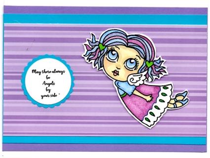 Handmade Angel card