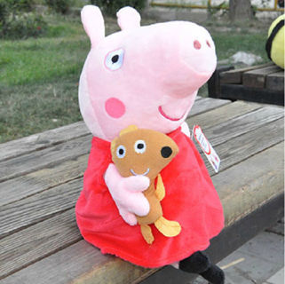 New Peppa Pig Family Stuffed Soft Figures Toy Plush Doll 19CM/7.5inch Kids Gift