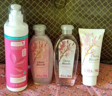 Shave cream, Cherry blossom - Cream bath, Shower gel & Body lotion +GIFTS *ShipsFREE in US*
