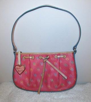 ♥ Dooney & Bourke Pink Signature DB Shoulder Bag CuTe!♥