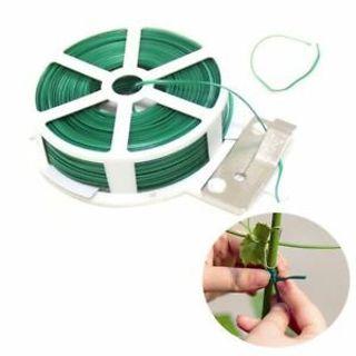 PVC Spool Plant 50M 1 Roll Plastic Wire Twist Tie Garden String Green