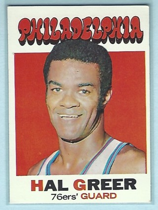 1971 Topps #60 Hal Greer 76ers