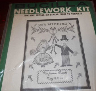 Our Wedding Cross Stitched Kit - New