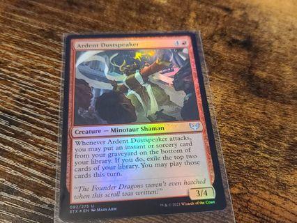 Magic the gathering mtg Ardent dustspeaker foil card Strixhaven