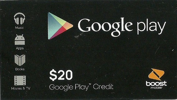 Free Google Play 20 Dollar Gift Card Credit New Android Market Phone