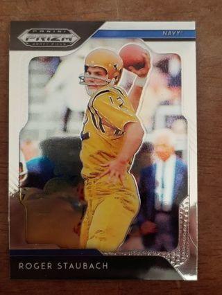 Panini Prizm Draft Picks Navy - Roger Staubach ( Dallas Cowboys) Chromium Card