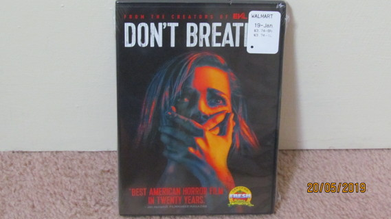 Don't Breathe DVD, New in Package