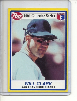 (B-3) 1991 Post Baseball Collector Series #3 of 30: Will Clark