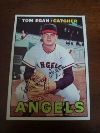 1967 Tom Egan California Angels vintage baseball card