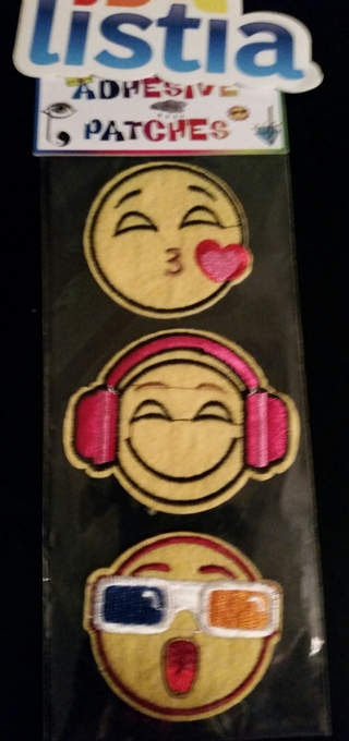 3 Fun Emoji Adhesive Patches