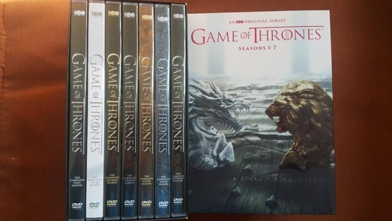 Game of Thrones: Complete Series Seasons 1-7 DVD Open Box