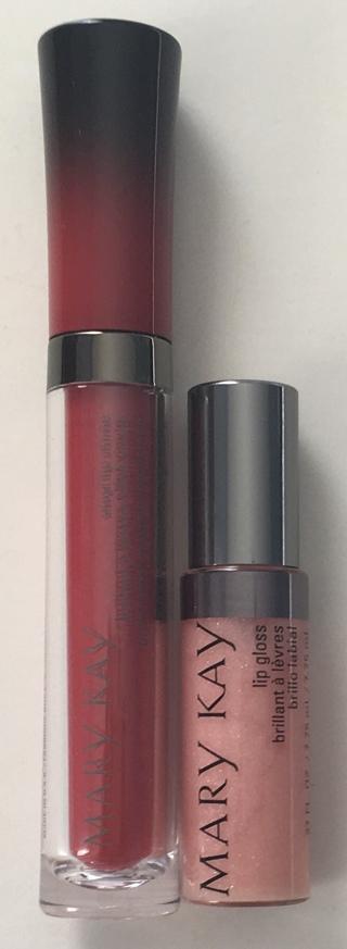 Mary Kay Vinyl Lip Shine Audacious .13 oz. and Lip Gloss Polynesian Petals .27 oz. - Brand New!