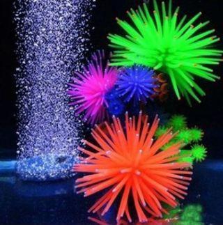 Artificial Silicone Fish Tank Aquarium Fake Coral Plant Underwater Aquatic Sea Anemone Ornament