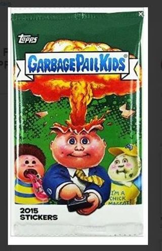 GARBAGE PAIL KIDS Cards BOOSTER PACK 2015 TOPPS Trading Card Stickers GIN