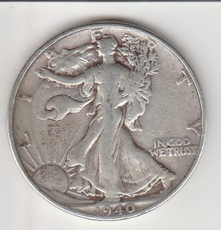 1940 Silver Half Dollar