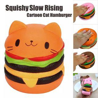 Slow Rising Scented Luky Cat Hamburger Squishy Gift Jumbo Squishy Toys For Children Kawaii
