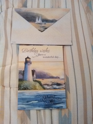 BIRTHDAY WISH CARD WITH ENVELOPE -- NEW!!