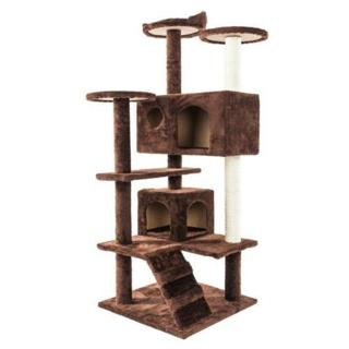**~ Large cat condo tree bed BROWN OR BEIGE~**