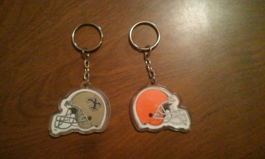 ~Winners Choice~ Saints or Browns Keychains ~