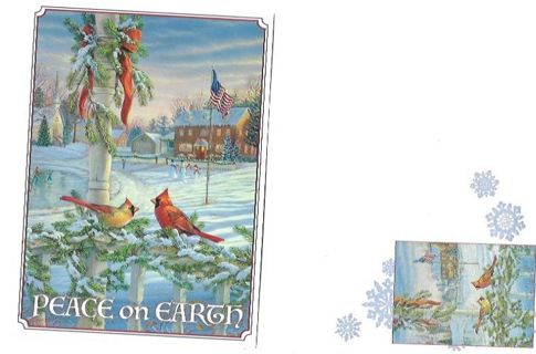 Christmas Card Unused With Envelope Birds