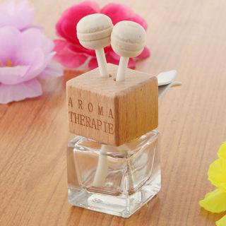 Clear Glass Perfume Pendant Car Ornament Empty Air Freshener Perfume Bottle