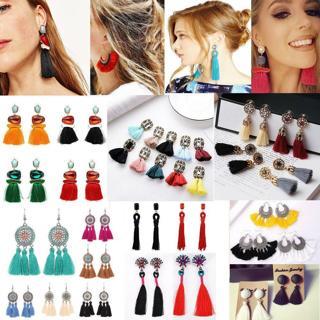 NEW Vintage Women Bohemian Fringe Boho Long Tassel Hook Drop Dangle Earrings CN
