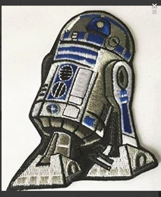 1 STAR WARS R2-D2 IRON ON PATCH robot droid Applique embroidered FREE SHIPPING