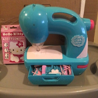 Cool maker sewing machine +hello kitty flash cards
