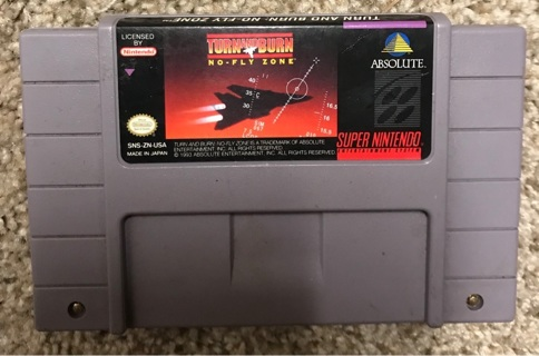 Turn and burn SNES no fly zone Super Nintendo