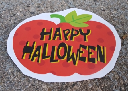 HALLOWEEN WINDOW CLINGS HAPPY HALLOWEEN TRICK OR TREAT ZOMBIE PARTY HOCUS POCUS