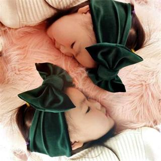New Fashion 9colors Big bowknot Headband baby girl headbands Bow hair band children kid Cotton tur