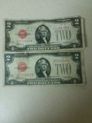 cheap price 2 1928 c 2 dollar red seals
