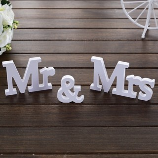 3 PCs/Set Wedding Decorations Mr & Mrs Mariage Decor Birthday Party Decorations White Letters