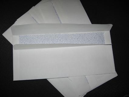 40  #10 Flip n Seal Envelopes (no licking, yay!)
