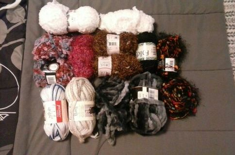 FREE SHPPNG! Novelty Yarn Lot
