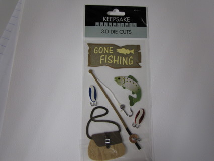 """STICKERS - """"Let's Go Fishing"""" Theme"""