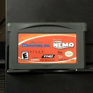 2 Games In 1: Nintendo Game Boy Advance GBA | Finding Nemo / Monsters Inc | Game Only