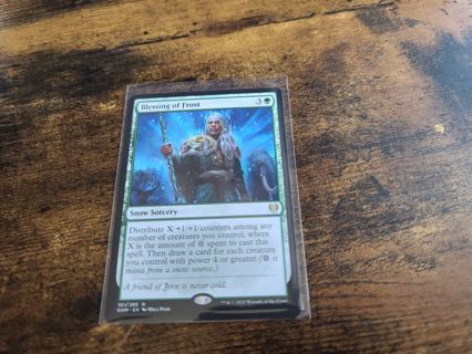 Magic the gathering mtg Blessing of Frost rare card