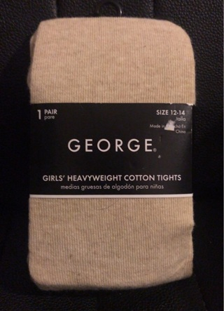 NEW - George - Girls size 12-14 Heavyweight Cotton Tights - FREE S&H