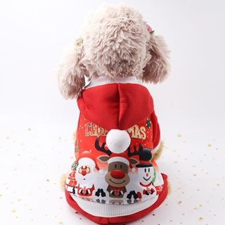 Pet Warm Dog Cat Jacket Coat Puppy Clothes Winter Sweater Christmas Apparel