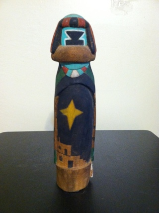 Vintage Navajo Made Kachina Type Sculpture Unsigned