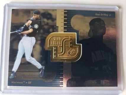 1998 Ken Griffey jr. SPX Finite Star Focus Baseball card, Seattle Mariners