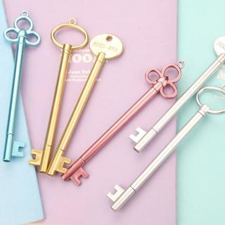 1PC 0.38mm Keys Design Pens For School Chancellory Gel Pen Kawaii School Supplies Cute Pen Station
