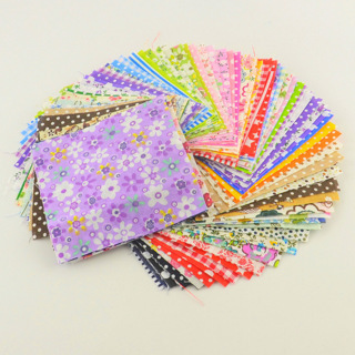 [GIN FOR FREE SHIPPING] 30Pcs 10cmx10cm Charm Pack Cotton Fabric Patchwork Bundle